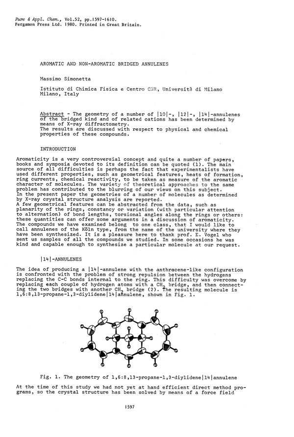 Pure and Applied Chemistry, 1980, Volume 52, No  6, pp  1597-1610