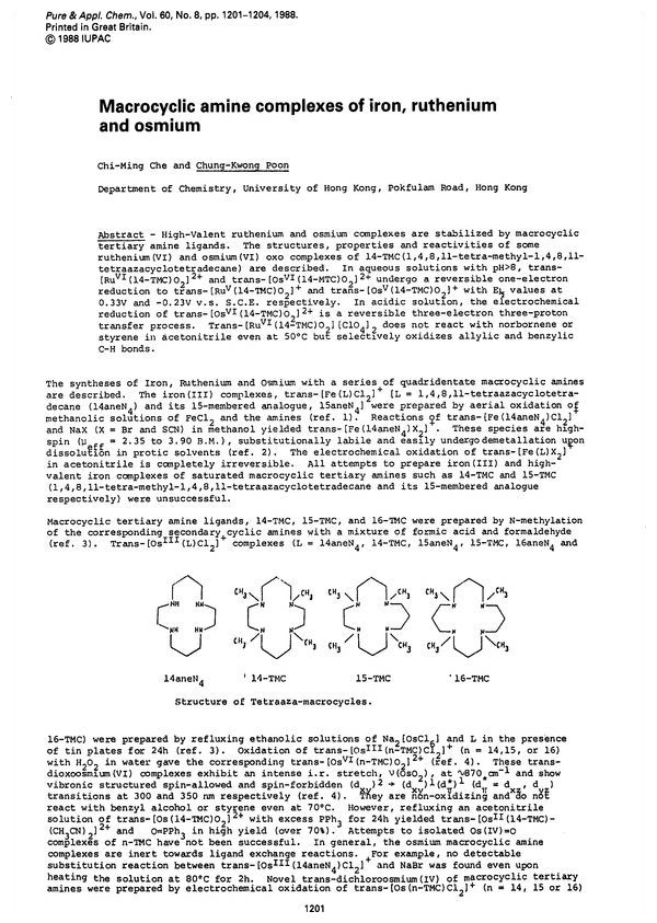 Pure and Applied Chemistry, 1988, Volume 60, No  8, pp  1201