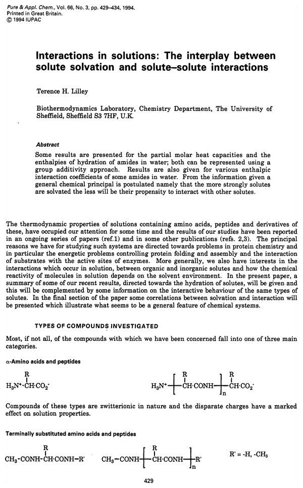Pure and Applied Chemistry, 1994, Volume 66, No  3, pp  429-434